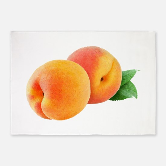 Digital peaches 5'x7'Area Rug