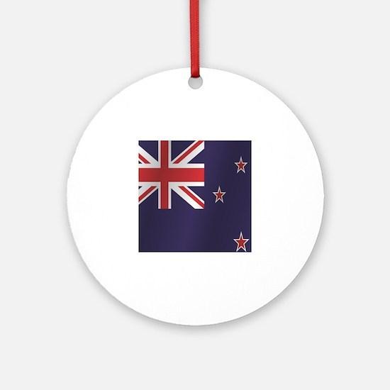 Cute New zealand flag Round Ornament