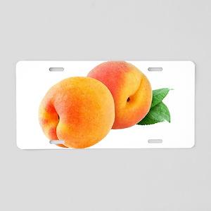 Digital peaches Aluminum License Plate