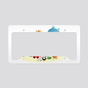12 colorful zoo animals License Plate Holder