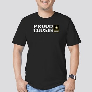 U.S. Army: Proud Cousi Men's Fitted T-Shirt (dark)