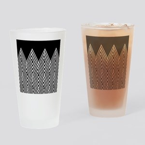 Zigzag Tribal pattern Drinking Glass