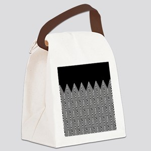 Zigzag Tribal pattern Canvas Lunch Bag