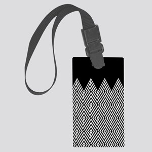 Zigzag Tribal pattern Luggage Tag