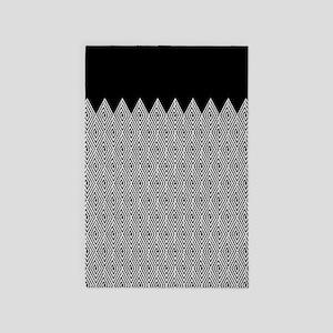 Zigzag Tribal pattern 4' x 6' Rug