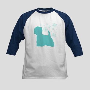 Westie Snowflake Kids Baseball Jersey
