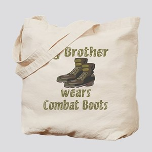 My Brother Wears Combat Boots Tote Bag