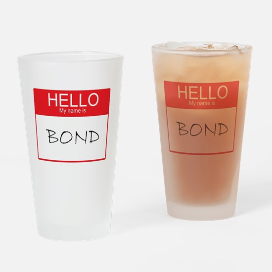 Cute Hello name tag Drinking Glass