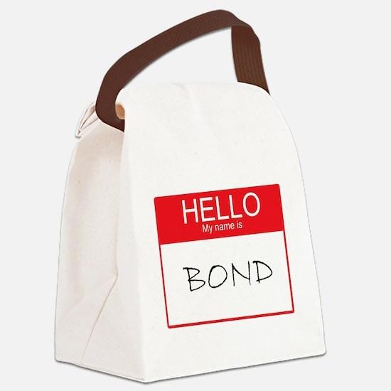 Cute Name tag Canvas Lunch Bag