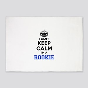 I can't keep calm Im ROOKIE 5'x7'Area Rug
