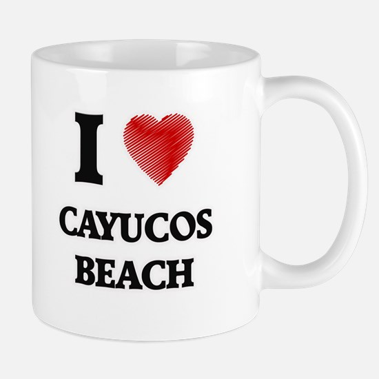 I love Cayucos Beach California Mugs
