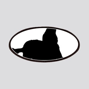 Dog barking silhouette Patch
