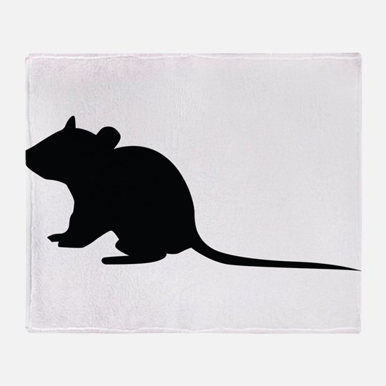 Rat silhouette Throw Blanket