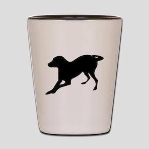 English foxhound dog silhouette Shot Glass