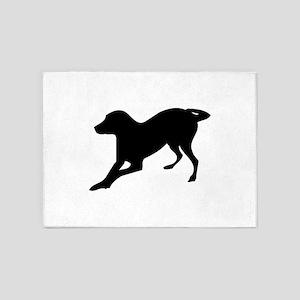 English foxhound dog silhouette 5'x7'Area Rug