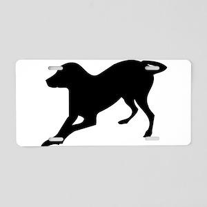 English foxhound dog silhou Aluminum License Plate