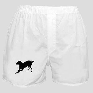 English foxhound dog silhouette Boxer Shorts