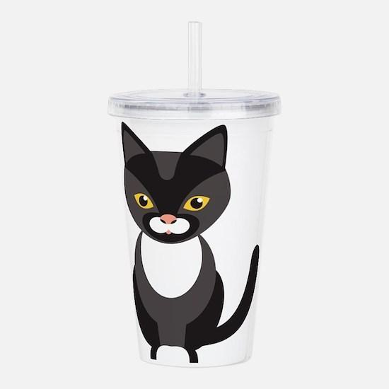 Cat cartoon Acrylic Double-wall Tumbler