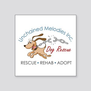 Unchained Melodies Dog Rescue Logo Hi-Res Sticker