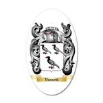 Vannetti 35x21 Oval Wall Decal