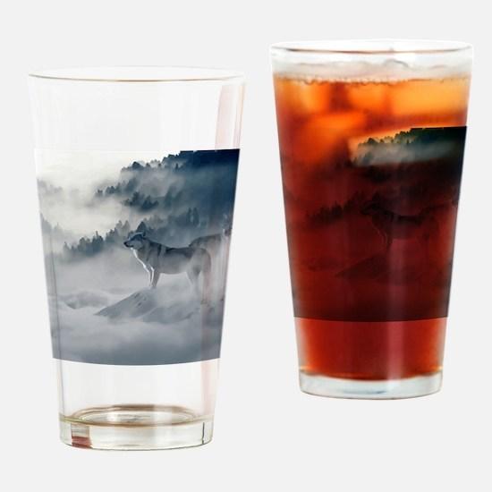 Wolf Animal Wildlife Art Drinking Glass