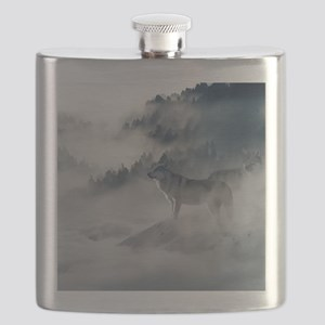 Wolf Animal Wildlife Art Flask