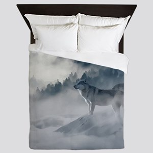 Wolf Animal Wildlife Art Queen Duvet