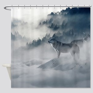 Wolf Animal Wildlife Art Shower Curtain