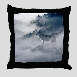Wolf Animal Wildlife Art Throw Pillow