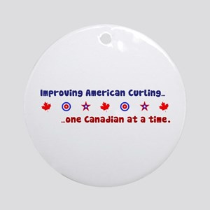 """US-CA Curling"" Ornament (Round)"
