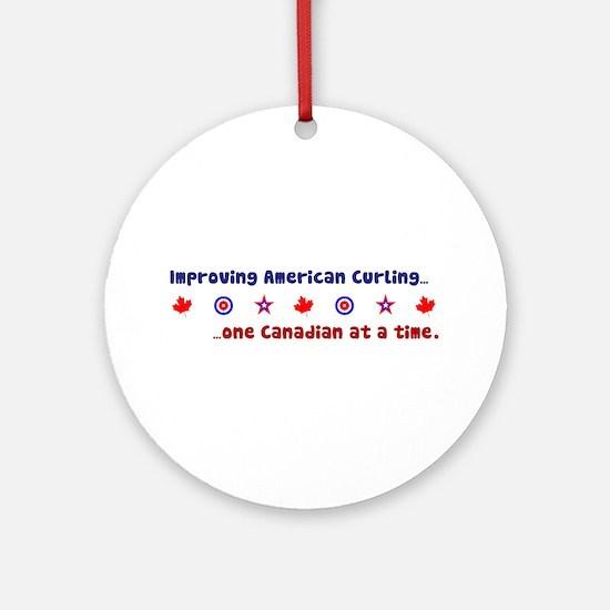 """US-CA Curling"" Ornament (Round)"