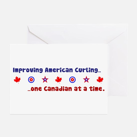 """US-CA Curling"" Greeting Cards (Pk of 20)"