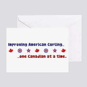 """US-CA Curling"" Greeting Card"