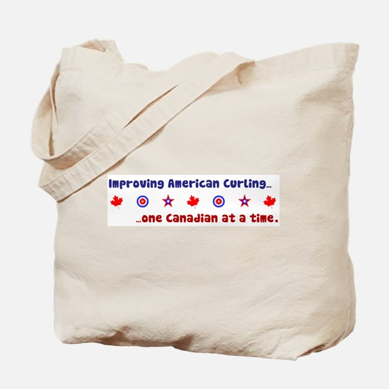 """US-CA Curling"" Tote Bag"