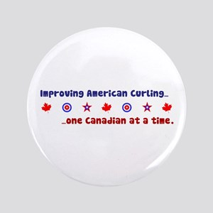 """""""US-CA Curling"""" 3.5"""" Button"""