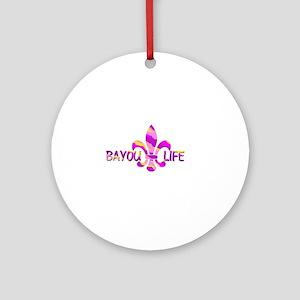 BAYOU LIFE Tiger Stripe Camo Round Ornament