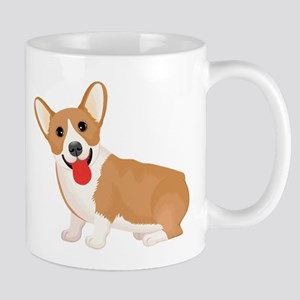 Pembroke welsh corgi dog showing tongue Mugs