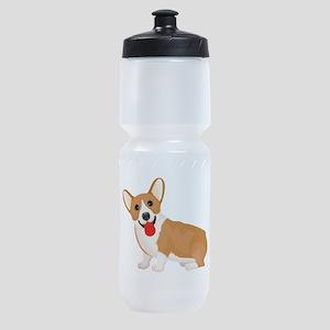 Pembroke welsh corgi dog showing ton Sports Bottle