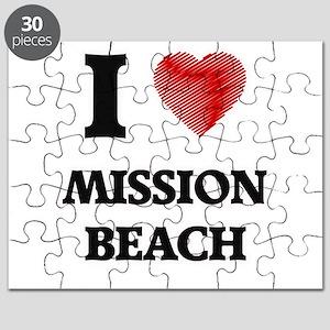 I love Mission Beach California Puzzle