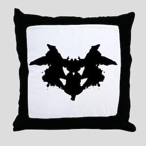 Rorschach Inkblot Throw Pillow