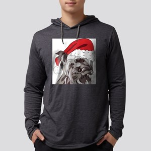 Cute Yorkie Christmas Puppy Long Sleeve T-Shirt