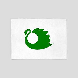 Swan clip art 5'x7'Area Rug