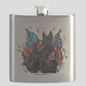 All American Scottie Flask