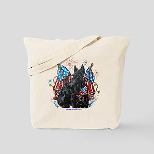 All American Scottie Tote Bag