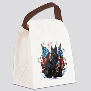 All American Scottie Canvas Lunch Bag