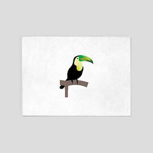 Bird standing on a pole 5'x7'Area Rug