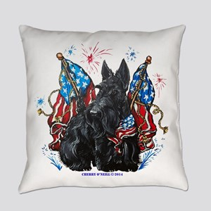 All American Scottie Everyday Pillow