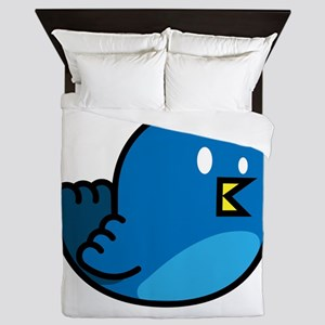 Cute amp simple twitter bird graphics Queen Duvet