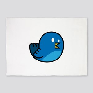 Cute amp simple twitter bird graphi 5'x7'Area Rug