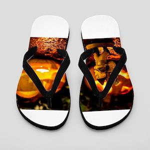 Spooky Journey Flip Flops